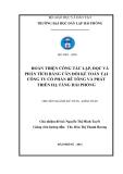 Đề tài nghiên cứu khoa học: Hoàn thiện công tác lập, đọc và phân tích bảng cân đối kế toán tại công ty cổ phần bê tông và phát triển hạ tầng Hải Phòng
