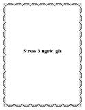 Stress ở người già