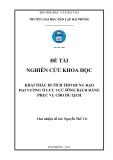 Đề tài nghiên cứu khoa học: Khai thác di tích thờ Hưng Đạo Đại Vương ở lưu vực sông Bạch Đằng phục vụ cho du lịch