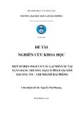 Đề tài nghiên cứu khoa học: Một số biện pháp cơ cấu lại nhân sự tại ngân hàng thương mại cổ phần Sài Gòn Thương Tín – chi nhánh Hải Phòng