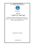 Đề tài nghiên cứu khoa học: Tìm hiểu giá trị Khu di tích lịch sử, danh lam thắng cảnh Núi Nưa - huyện Triệu Sơn - Thanh Hóa phục vụ phát triển du lịch