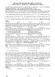 ÐỀ THI TUYỂN SINH ĐẠI HỌC KHỐI A, A1 NĂM 2013 Môn thi : VẬT LÝ – Mã đề : 426