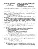 KỲ THI CHỌN HỌC SINH GIỎI LỚP 12 VÒNG 1 LONG AN Môn thi: HÓA HỌC