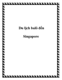 Du lịch balô đến Singapore