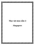 Mẹo vặt mua sắm ở Singapore