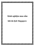 Kinh nghiệm mua sắm khi du lịch Singapore