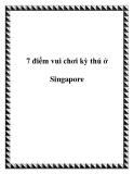7 điểm vui chơi kỳ thú ở Singapore