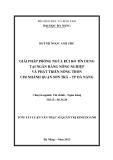 Luận văn: GIẢI PHÁP PHÒNG NGỪA RỦI RO TÍN DỤNG TẠI NGÂN HÀNG NÔNG NGHIỆP VÀ PHÁT TRIỂN NÔNG THÔN CHI NHÁNH QUẬN SƠN TRÀ – TP ĐÀ NẴNG