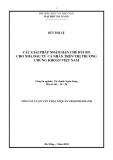 Luận văn:Các giải pháp nhằm hạn chế rủi ro cho nhà đầu tư cá nhân trên thị trường chứng khoán Việt Nam