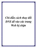 Chỉ dẫn cách thay đổi DNS để vào các trang Web bị chặn