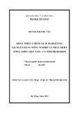 Luận văn:HOÀN THIỆN CHÍNH SÁCH MARKETING TẠI NGÂN HÀNG NÔNG NGHIỆP VÀ PHÁT TRIỂN NÔNG THÔN VIỆT NAM - CN TỈNH BÌNH ĐỊNH