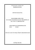 Luận văn:HOẠCH ĐỊNH CHIẾN LƯỢC XUẤT KHẨU SẢN PHẨM GỖ SANG THỊ TRƯ&ỜNG EU TẠI CÔNG TY TNHH BÌNH PHÚ