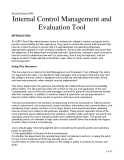 Internal Control Management and Evaluation Tool