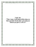 """Luận văn: """"Thực trạng và giải pháp nhằm nâng cao hiệu quả kinh doanh dịch vụ ăn uống tại Khách sạn quốc tế ASEAN"""""""