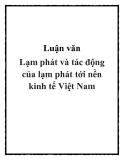 Luận văn Lạm phát và tác động của lạm phát tới nền kinh tế Việt Nam