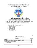 Đề tài: Hoạt động của NHTM và đóng góp của NHTM đối với tăng trưởng kinh tế Việt Nam