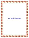 6 bí quyết viết Resume