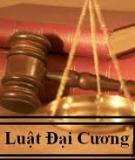 Bài giảng Pháp luật đại cương - Ths.Bùi Huy Tùng -  ĐH Ngân hàng