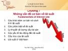 Những vấn đề cơ bản về lãi suất