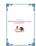 LUẬN VĂN:Những thuận lợi và khó khăn của công ty Dệt May Hà Nội