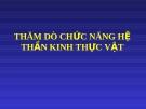 THĂM DÒ CHỨC NĂNG HỆ THẦN KINH THỰC VẬT