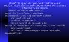 TÊN ĐỀ TÀI: KHẢO SÁT CÔNG NGHỆ, THIẾT BỊ VÀ CÁC PHƯƠNG PHÁP KIỂM TRA CHẤT LƯỢNG TRONG SẢN XUẤT BIA TẠI CÔNG TY BIA SÀI GÒN.