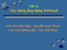 Đề tài: Xây dựng ứng dụng Webmail