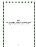 """Báo cáo thực tập tốt nghiệp:  """"Báo cáo tốt nghiệp - Những vấn đề chung về doanh nghiệp và công tác kế toán tại công ty Selta"""""""