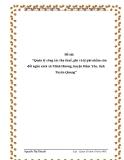 """Đề tài: """"Quản lý công tác thu thuế, phí và lệ phí nhằm cân đối ngân sách xã Minh Hương, huyện Hàm Yên, tỉnh Tuyên Quang"""""""