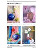 Giáo trình môn Vẽ Mỹ Thuật 3,4 vẽ màu
