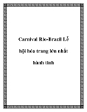 Carnival Rio-Brazil Lễ hội hóa trang lớn nhất hành tinh