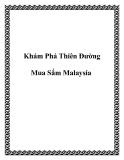 Khám Phá Thiên Đường Mua Sắm Malaysia