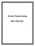 Du lịch Manila những ngày nắng đẹp