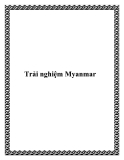 Trải nghiệm Myanmar