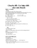 Chuyên đề: các hợp chất của lưu huỳnh