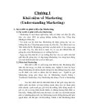CHƯƠNG 1 : KHÁI NIỆM VỀ MARKETING