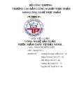 Tiểu luận: Công nghệ sản xuất nước mắm chay từ đậu nành