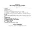 Mẫu phiếu đề xuất nhiệm vụ khoa học và công nghệ cấp Bộ năm 20... (Dưới hình thức dự án)