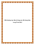 Điều hướng trực tiếp từ bảng này đến bảng khác trong Word 2013111111111111111111