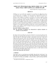 KHẢO SÁT TÍNH TRẠNG BẠC BỤNG THEO CÁC VỊ TRÍ KHÁC NHAU TRÊN GIỐNG LÚA THƠM MTL250