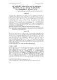 CÁC NHÂN TỐ ẢNH HƯỞNG ĐẾN QUYẾT ĐỊNH THAM GIA TỔ CHỨC DU LỊCH CỘNG ĐỒNG CỦA NGƯỜI DÂN Ở TỈNH AN GIANG
