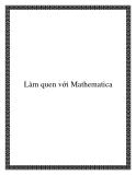Làm quen với Mathematica