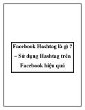 Facebook Hashtag là gì ?