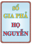 Sổ gia phả họ Nguyễn