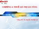 Bài giảng thuế nhà nước - Chương 4 Thuế giá trị gia tăng ( TS. Nguyễn Thị Mỹ Linh)