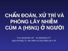 CHẨN ĐOÁN, XỬ TRÍ VÀ PHÒNG LÂY NHIỄM CÚM A (H5N1) Ở NGƯỜI