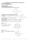 Chuyên đề 5: Kỹ năng sử dụng đường tròn lượng giác