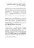 CÁC YẾU TỐ ẢNH HƯỞNG ĐẾN THU NHẬP CỦA NGƯỜI DÂN TỘC THIỂU SỐ Ở ĐỒNG BẰNG SÔNG CỬU LONG