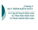 Bài giảng Tổng quan kiểm toán (TS Trần Phước)  - Chương  4.1 Lập kế hoạch kiểm toán