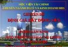 Chuyên đề: Định giá bất động sản - Phạm Văn Bình